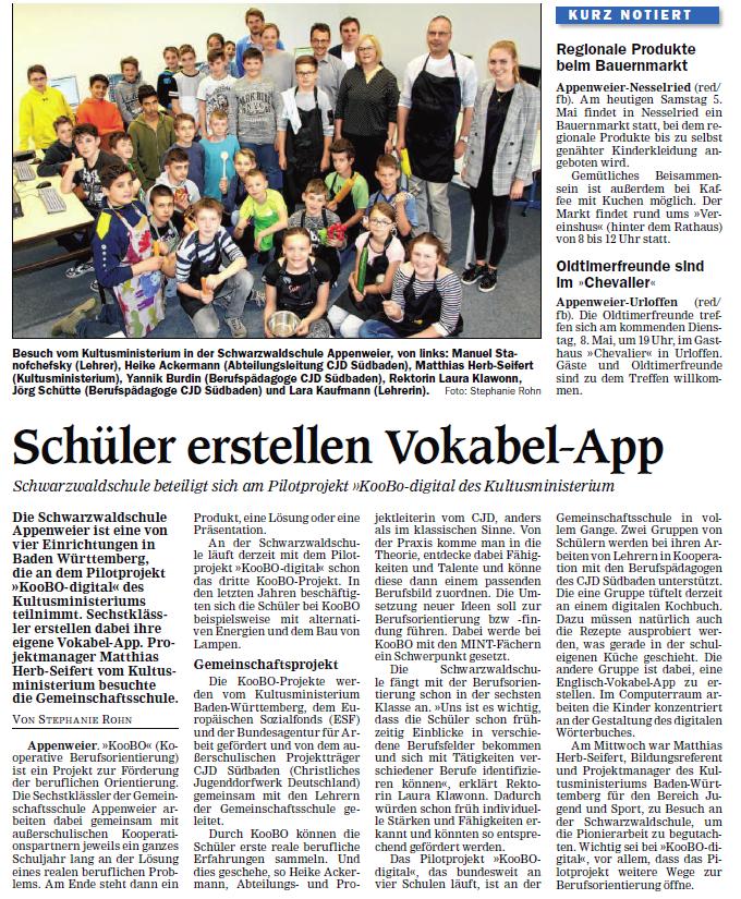 Schüler erstellen Vokabel-App
