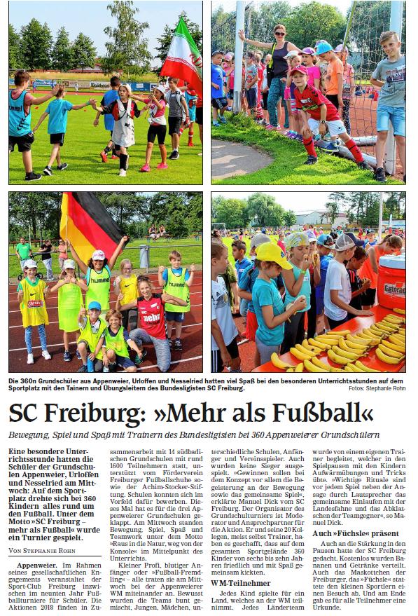 SC Freiburg - Füchsle Cup 2018