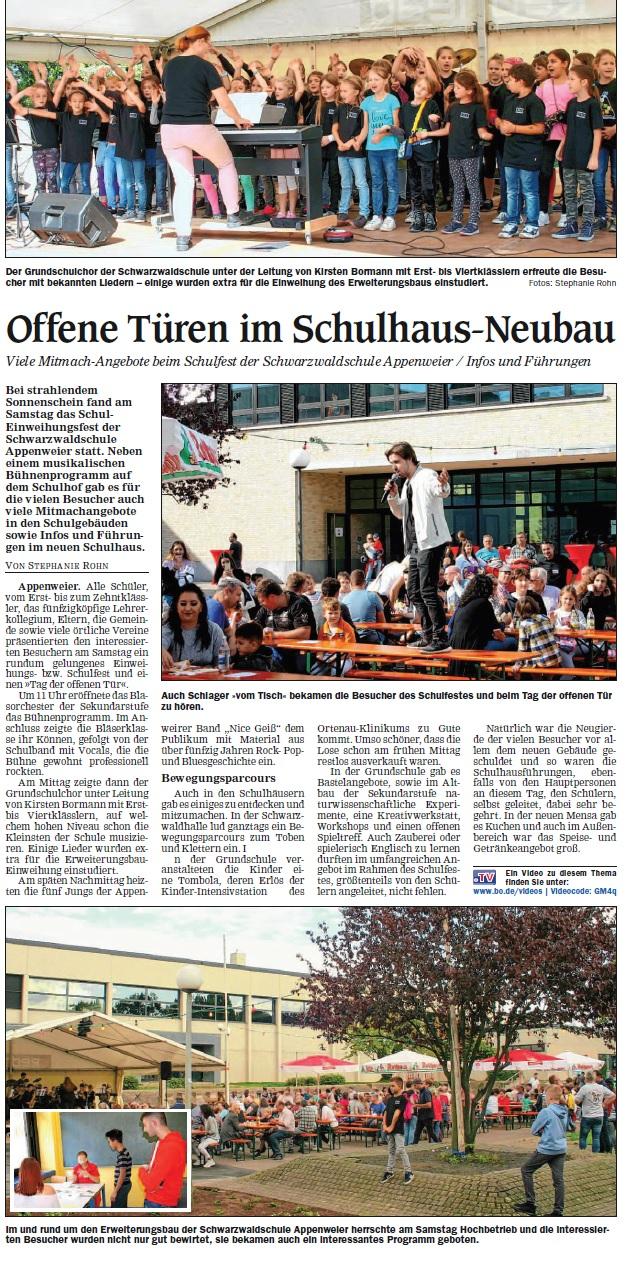 Schulfest - 12.10.19